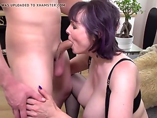 Son tries mom s warm pussy and her big tits