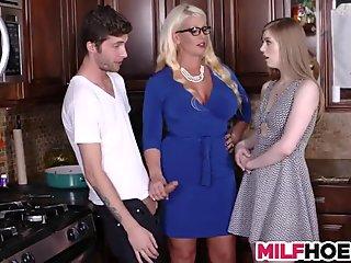 Stepdaughters Boyfriend Gets Seduced By Mom